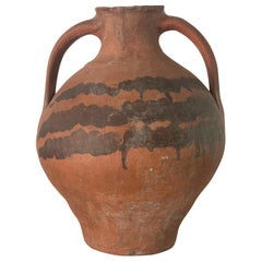 "18th Century Bridal Jug Red Picher ""Cantaro"" from Calanda, Spain Terracotta Vase"