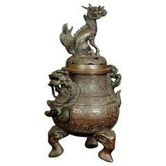 18th Century Bronze China Censer