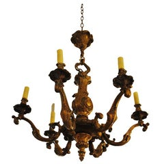 18th Century Bronze Louis XV Chandelier