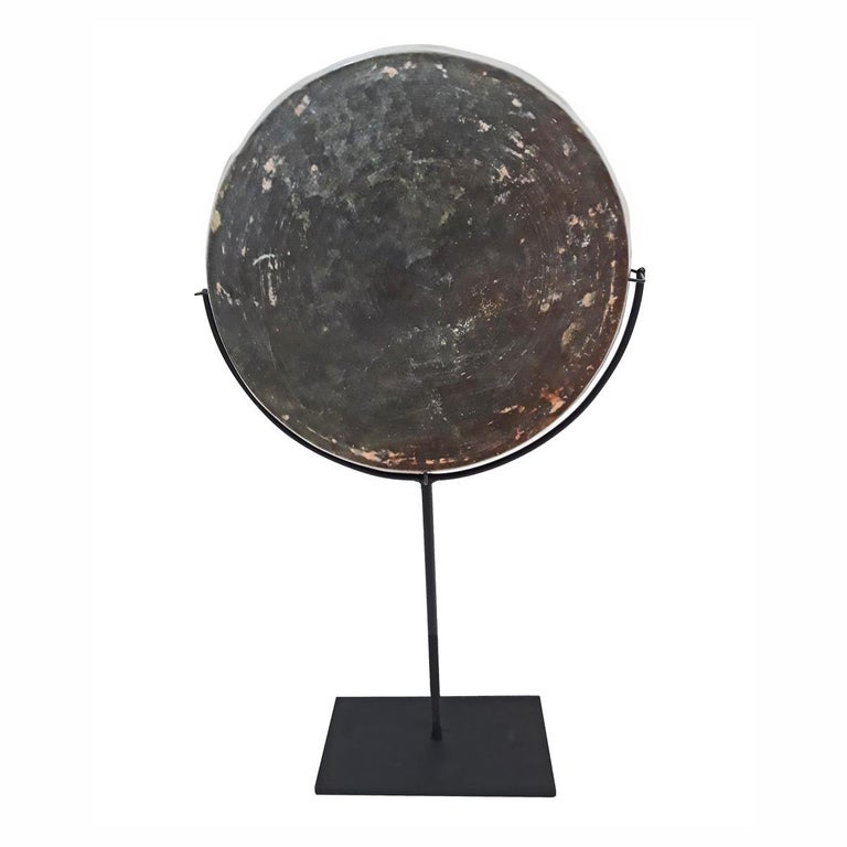 Patinated 18th Century Bronze Mirror / Tray from Thailand