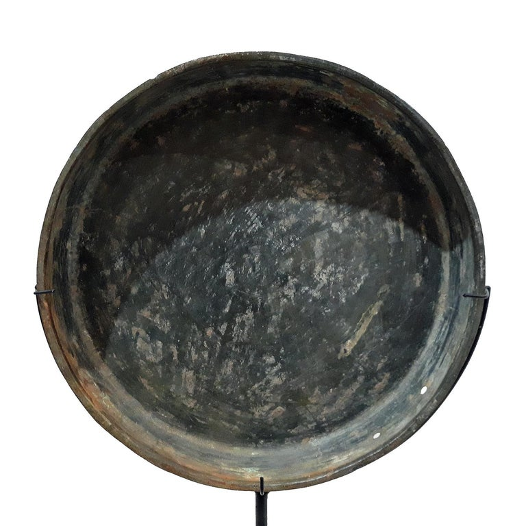 18th Century Bronze Mirror / Tray from Thailand In Good Condition In New York, NY