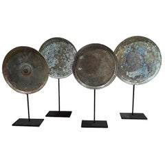 18th Century Bronze Mirrors from Thailand