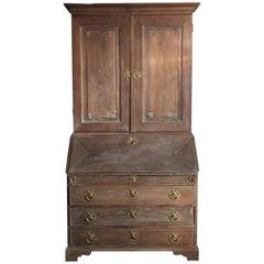 18th Century Bureau Bookcase, Gustavian Period Swedish Limed Elm