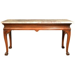 18th Century Cabriole Leg Marble-Top Side Table