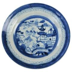 18th Century Canton Ware Plate