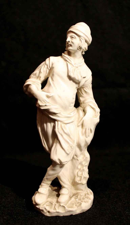 18th Century Capodimonte White Glaze Porcelain Statue Male and Female Figurines For Sale 5