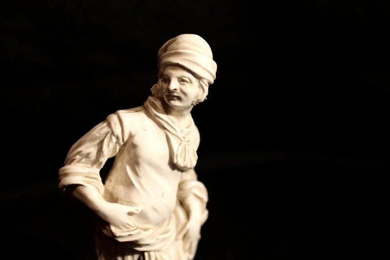 18th Century Capodimonte White Glaze Porcelain Statue Male and Female Figurines For Sale 6