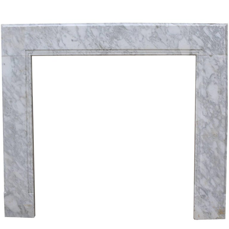 18th Century Carrara Marble Chimneypiece