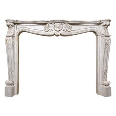 18th Century Carrara Marble Mantel