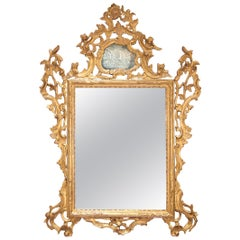 18th Century Carved and Giltwood Italian Rococo Mirror