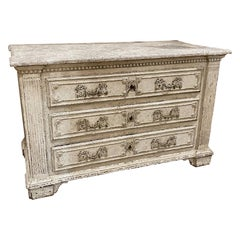 18th Century Carved and Painted Commode