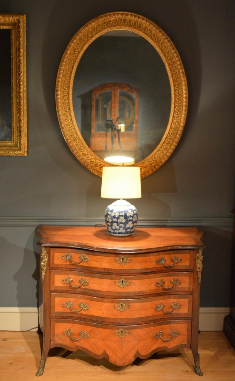 18th Century Carved Giltwood and Composition Oval Mirror of Adam Design 4