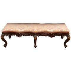18th Century Carved Italian Bench