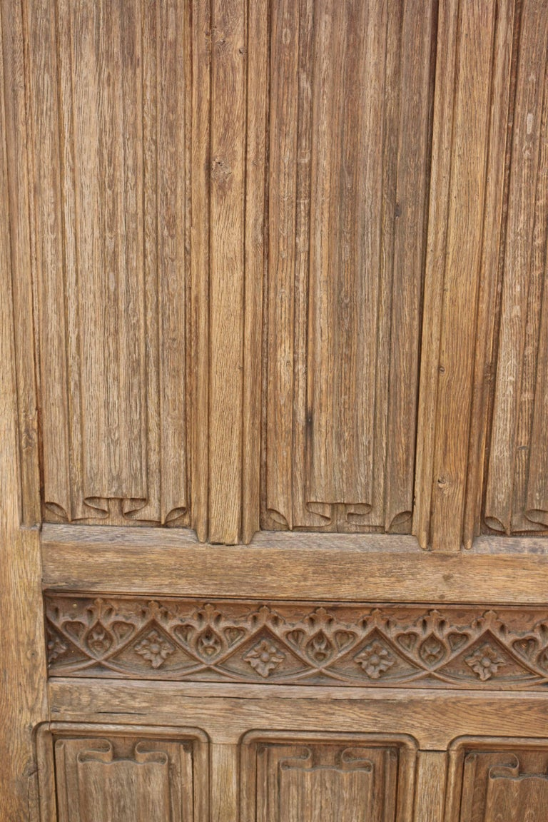 18th Century Carved Linen Fold Oak Door At 1stdibs