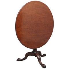 18th Century Carved Mahogany Tripod Table