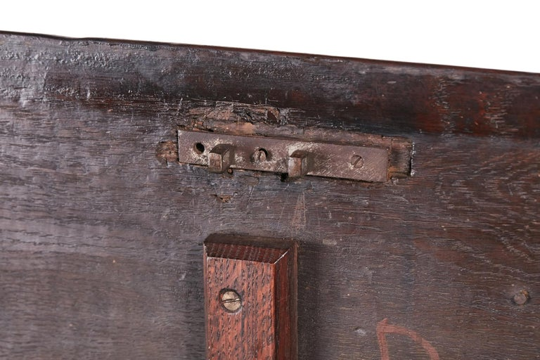 18th Century Carved Oak Coffer For Sale 3