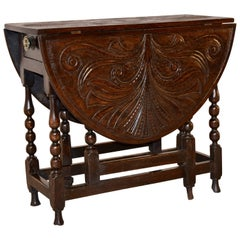 18th Century Carved Oak Gateleg