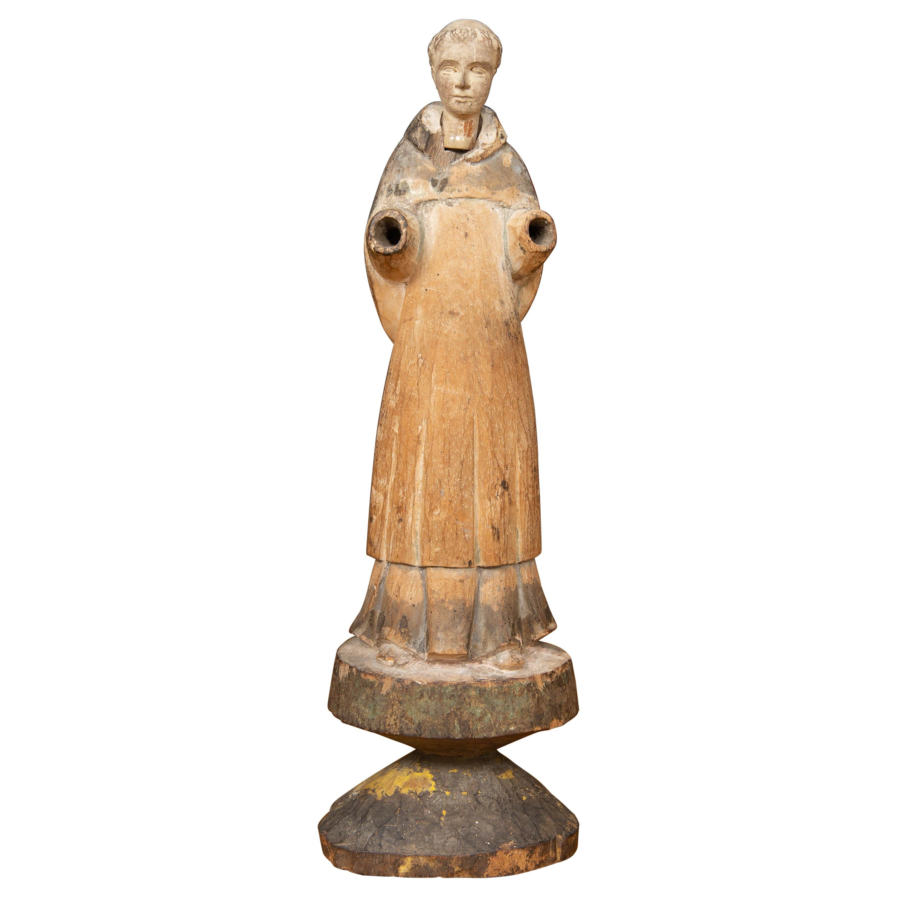 18th Century Carved Statue of Saint Francis