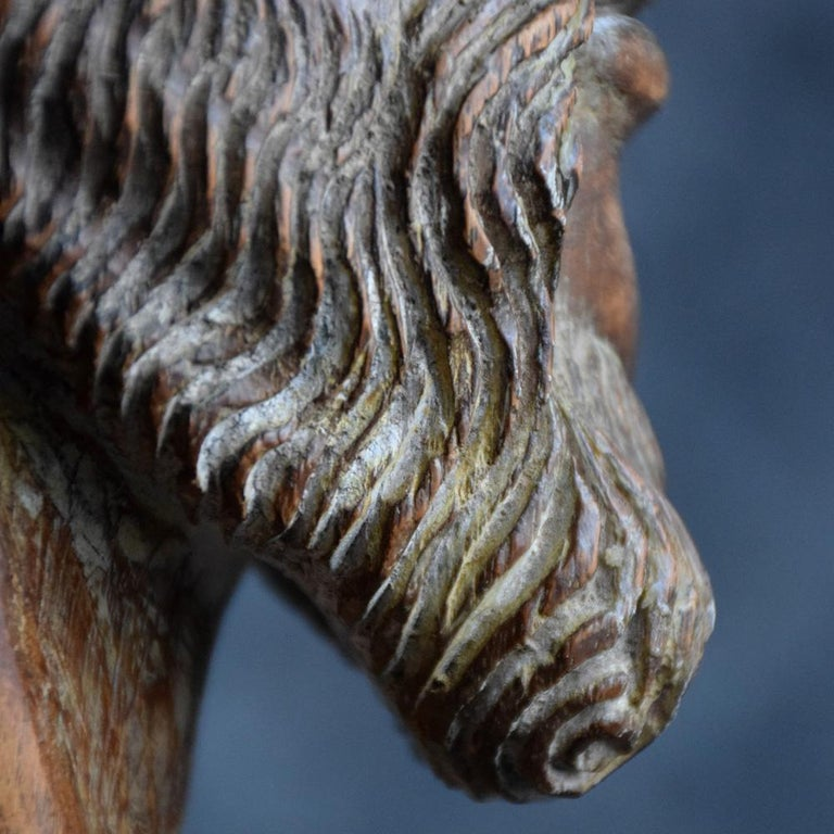 Late 18th Century 18th Century Carved Wood Santos Head For Sale