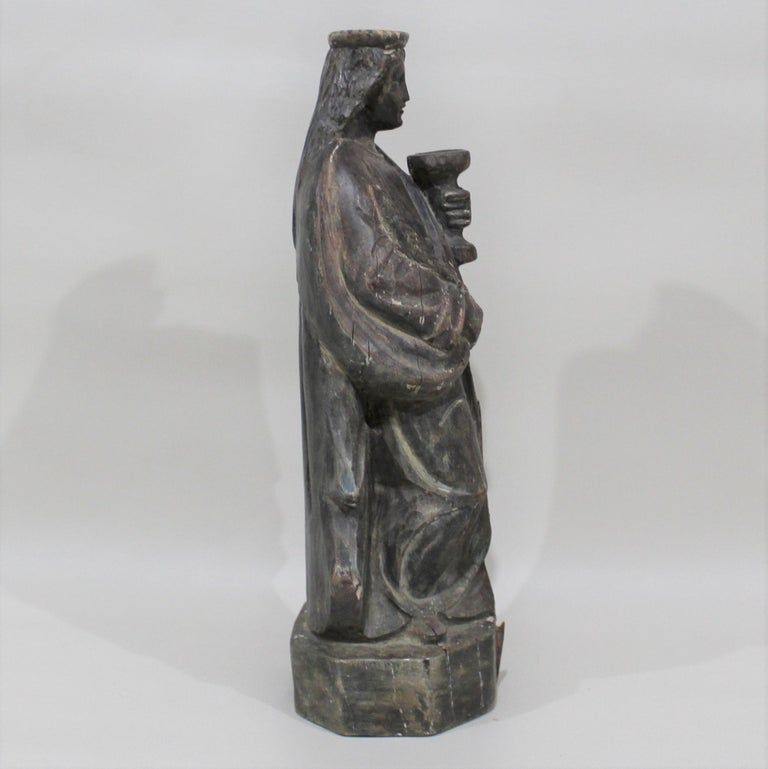 18th Century Carved Wood Santos of the Virgin Mary For Sale 2