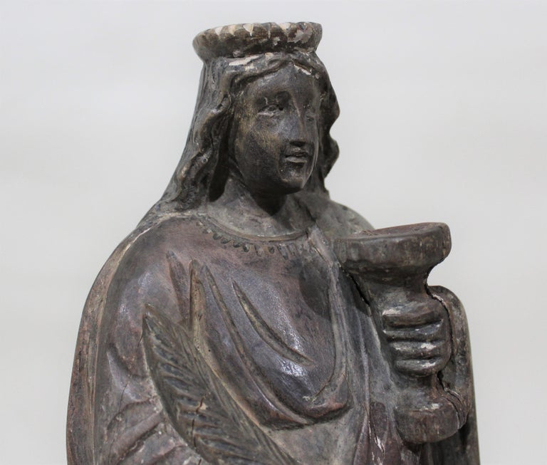 18th Century Carved Wood Santos of the Virgin Mary For Sale 3