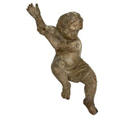18th Century Carved Wooden French Putti