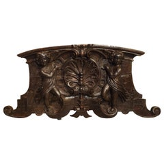 18th Century Carved Wooden Overdoor from France
