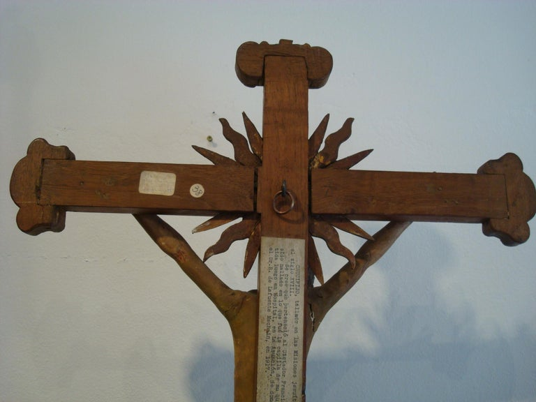 18th Century Carved Wooden Representing Christ on the Cross Folk Art For Sale 11