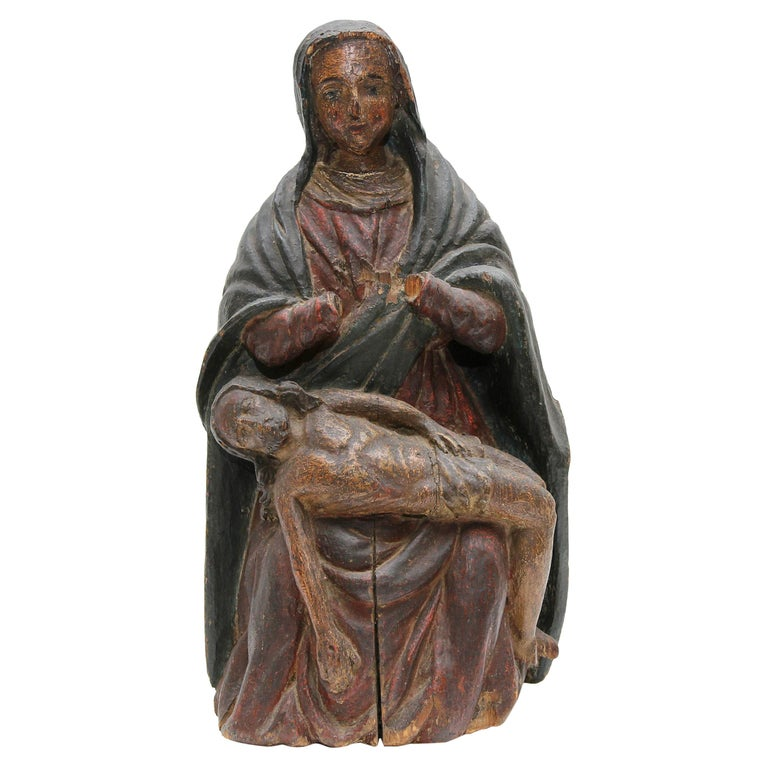 "18th Century Carving the ""Pieta"" Santos"