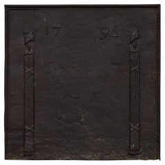 18th Century Cast Iron Fireback