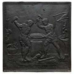 18th Century Cast Iron Greek Fireplace Screen