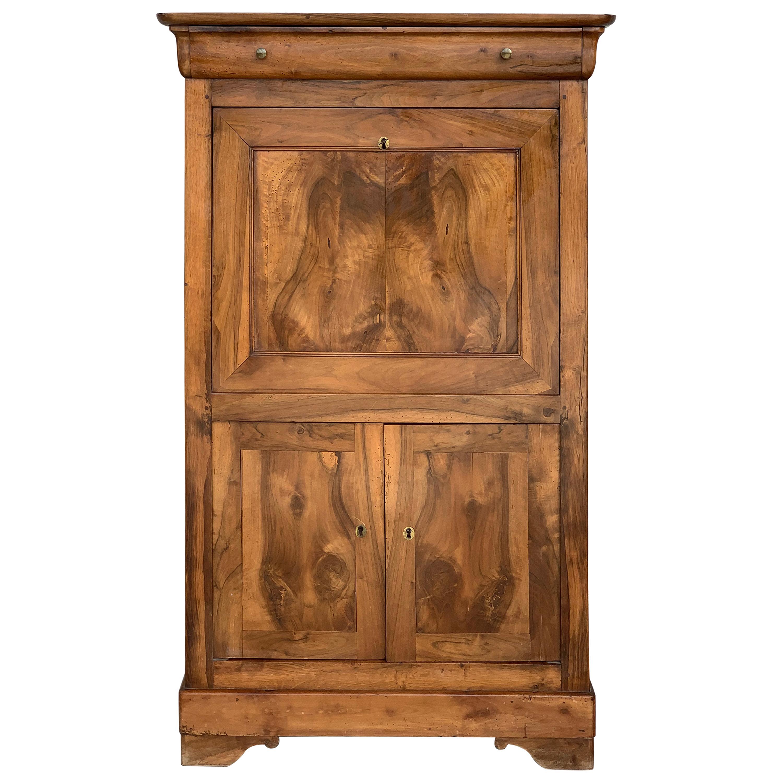 18th Century Catalan Drop-Front Oak Secretary Desk or Abattant, Spain