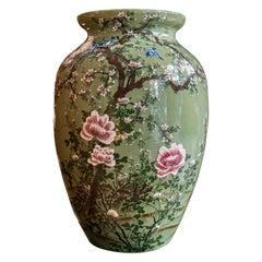 18th Century Celadon Seto Ware Vase