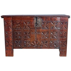 "18th Century Cherry and Chestnut Basque Arms Chest ""Kutxa"""