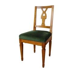 18th Century Cherrywood Chair with Maple Inlays Josephinism, Austria, circa 1790