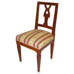 18th Century Cherrywood Vintage Chair or Side Chair, circa 1790, Austria