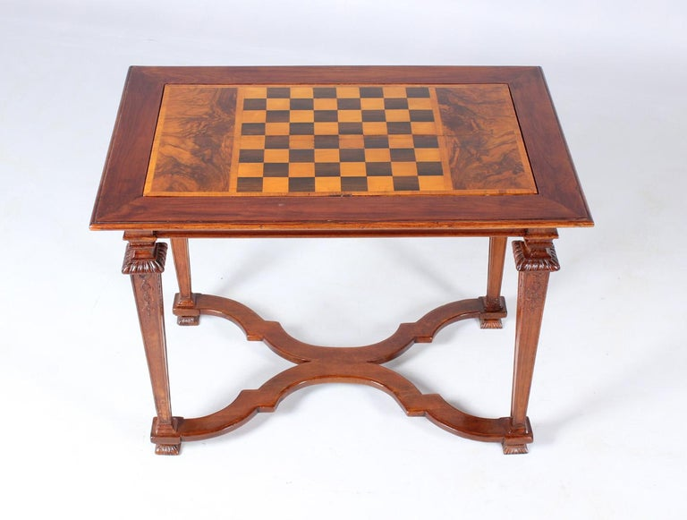 German 18th Century Chess and Backgammon Gametable, Walnut, Louis XVI circa 1780 For Sale