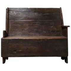 18th Century Chestnut Italian Bench