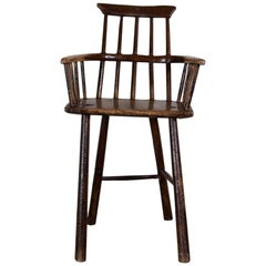 18th Century Childs Comb Back Stick High Chair