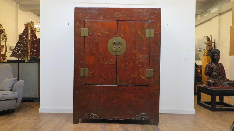 18th Century and Earlier 18th Century Chinese Cabinet For Sale
