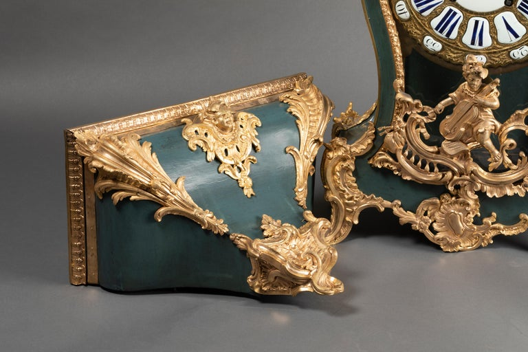 18th Century, Chinese Cartel in Green Lacquer, Louis XV Period For Sale 6