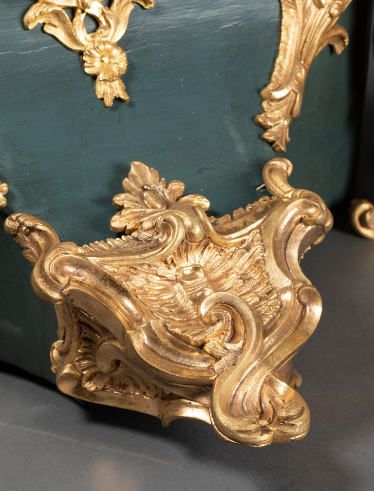 18th Century, Chinese Cartel in Green Lacquer, Louis XV Period For Sale 10