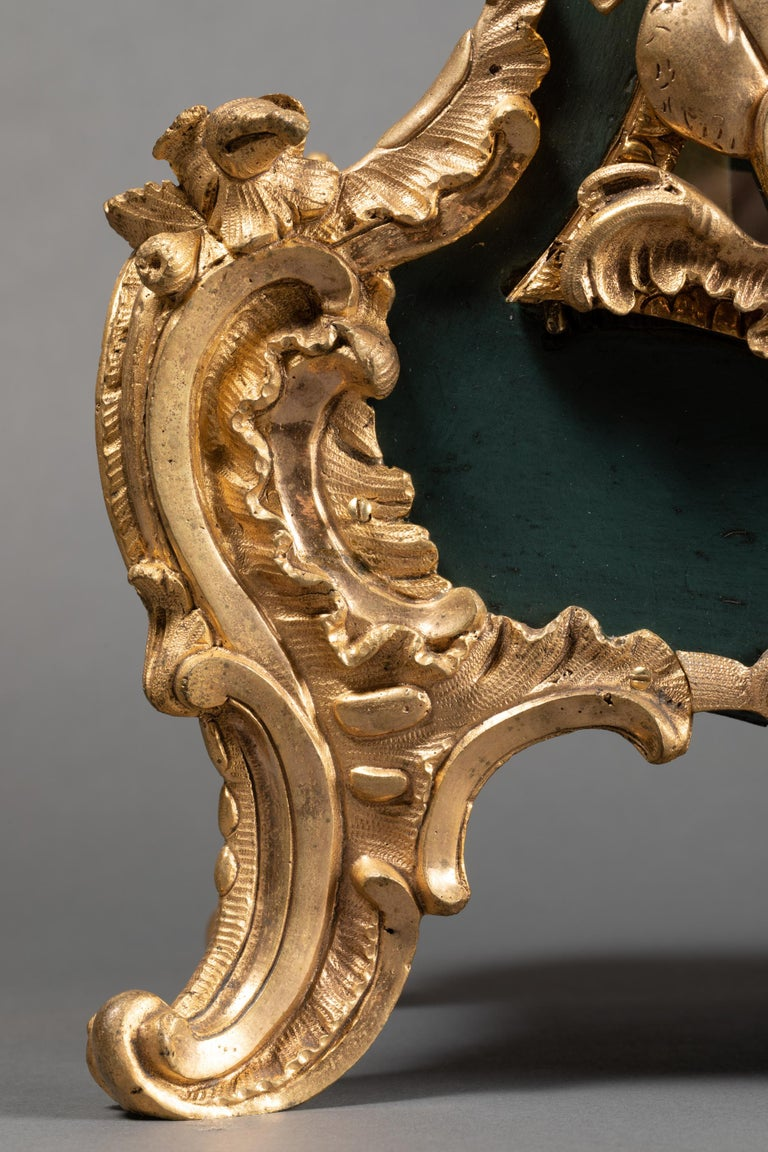 French 18th Century, Chinese Cartel in Green Lacquer, Louis XV Period For Sale