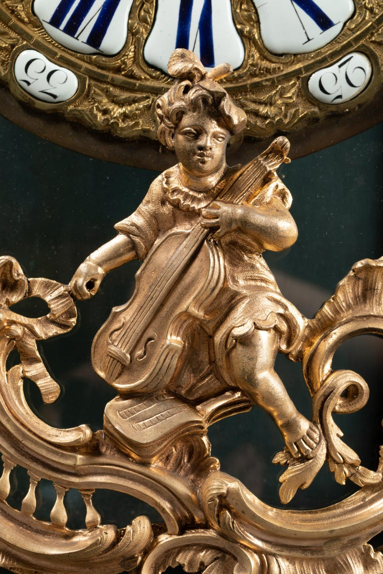 18th Century, Chinese Cartel in Green Lacquer, Louis XV Period In Good Condition For Sale In Saint Ouen, FR