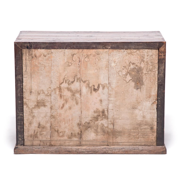 18th Century Chinese Chest with Marble Paneled Doors 4