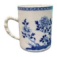 18th Century Chinese Export Blue and White Porcelain Mug