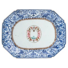 18th Century Chinese Export Porcelain Armorial Platter
