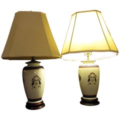 18th Century Chinese Export Porcelain Vase Pair as Lamps