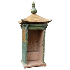 18th Century Chinese Glazed Pottery Temple, Probably Ming