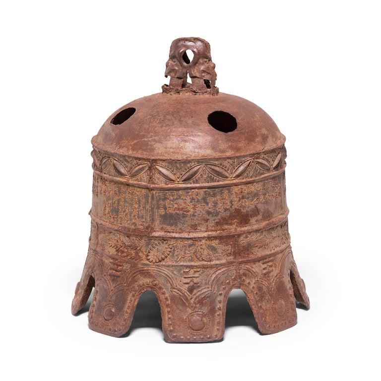 Ming 17th Century Chinese Grand Wanli Iron Bell For Sale